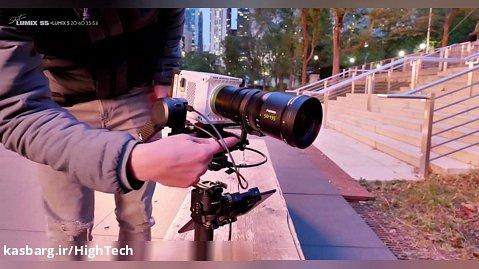 بررسی عملکرد DJI RS2 همراه با دوربین RED KOMODO