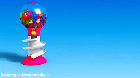 اموزش زبان انگلیسی  برای کودکان - توپ های رنگی