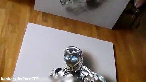 دانلود نقاشی زیبا از  ویدیو نقاشی Ironman 3D