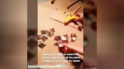 آموزش ساخت کاردستی با وسایل بازیافتی قسمت دوازدهم