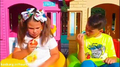 بانوان سرگرمی کودک آدریاناشو :: برنامه کودک آدریانا نوشیدن نوشابه های شیرین