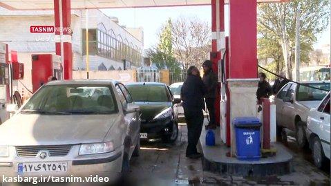 سوخت گیری خودروها در اردبیل بدون مشکل